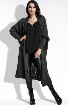*FIMFI I218 sweter oliwkowy