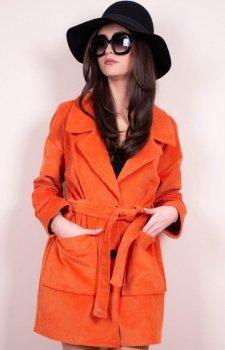 Lekki wiosenny płaszcz 0010 Roco pomarańczowy