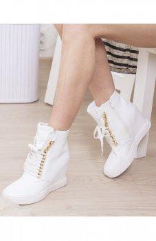 Sneakersy z łańcuszkami białe