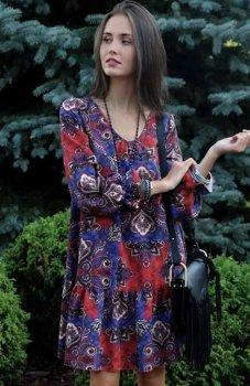 Roco 218 sukienka wielokolorowa
