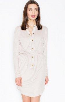 Figl M454 sukienka beżowy