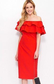 Makadamia M403 sukienka czerwona