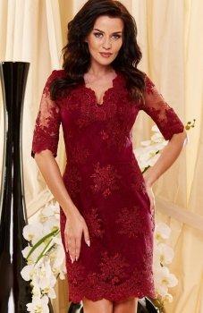 Roco 0153 sukienka bordowa