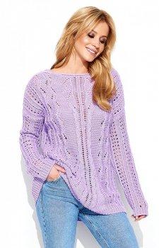 Makadamia S60 sweter liliowy