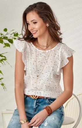 Zwiewna bluzka z falbankami 0078/0137