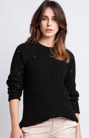 MKMSwetry Sweter Kriss SWE 076 czarny