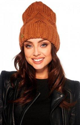 Klasyczna czapka na zimę karmelowa LC112