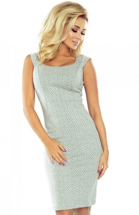 *Numoco 53-32 sukienka szara jodełka