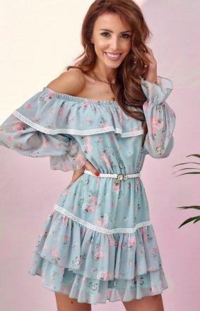 Kobieca sukienka hiszpanka w kwiaty 0328/U43