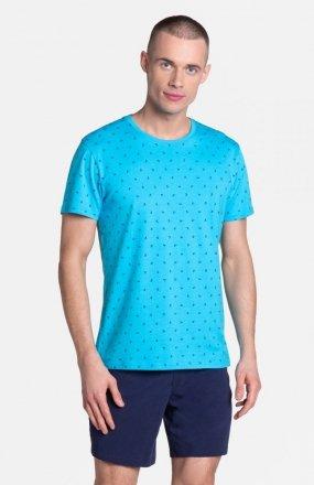Henderson Leaf 38872-56X piżama niebiesko-granatowa