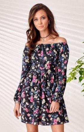 Sukienka letnia hiszpanka w kwiaty 0288 S43