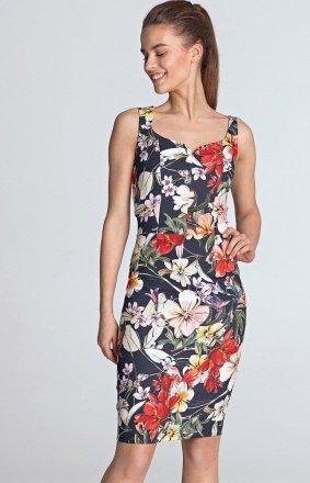 Sukienka ołówkowa z dekoltem S118K/G