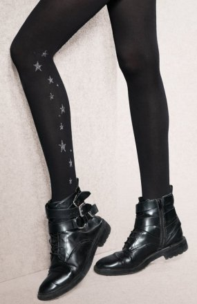 Gatta Flash & Black wzór 02 5XL rajstopy