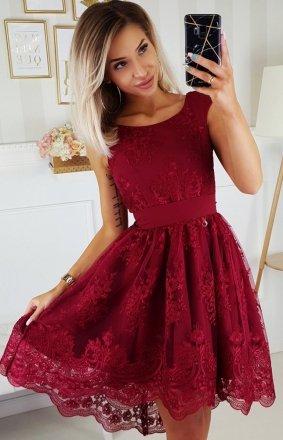 Koronkowa sukienka z trenem Bicotone 2174-10