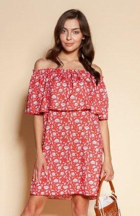 Krótka sukienka hiszpanka czerwona SUK201
