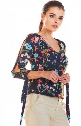Kwiatowa bluzka damska M191