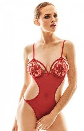 Seksowne czerwone body Cailene