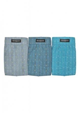 Henderson Slipy Henderson 1446 Szare-jeans-turkus (zestaw 3 sztuk)