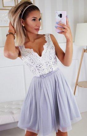 Koronkowa rozkloszowana sukienka Bicotone 2206-31
