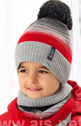 AJS 38-523 czapka i komin dla chłopca