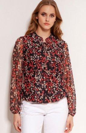 Bluzka z siateczkowej tkaniny czerwona BLU150