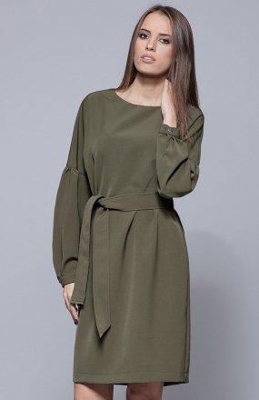 Harmony H028 sukienka zielona