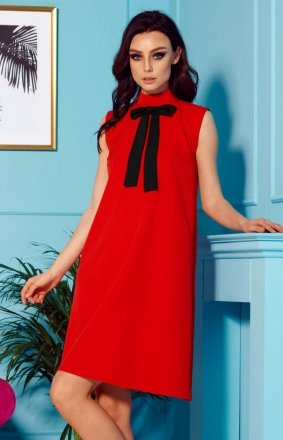 Sukienka z kokardą czerwona L296
