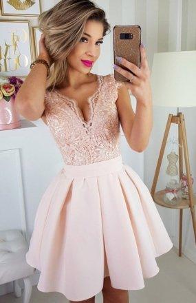 *Bicotone  2139-17 sukienka łososiowa