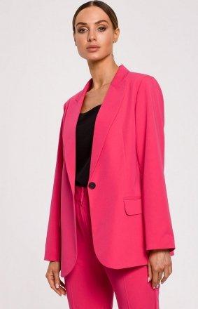 Elegancki różowy żakiet damski M602