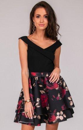 *Wieczorowa sukienka z podwójną falbaną 253/P03