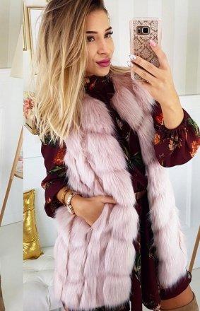 Futrzana kamizelka Lola różowa