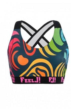 FeelJ! Camo mosaic top sportowy