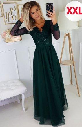 Bicotone 2167/1-13 MAXI sukienka wieczorowa zielona
