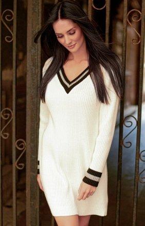 Sportowa sukienka ecru S69
