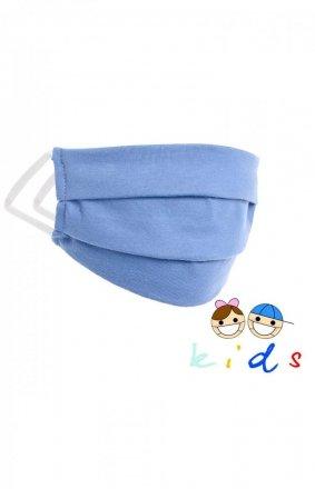 Dwuwarstwowa maseczka dziecięca niebieska