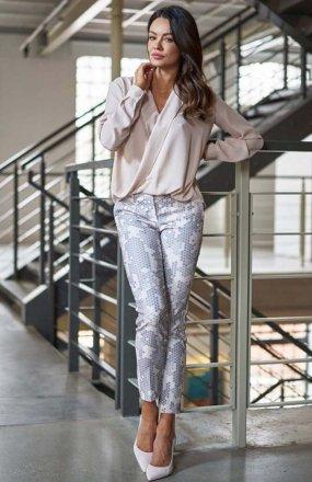 Lola Fashion spodnie cygaretki wzór 1