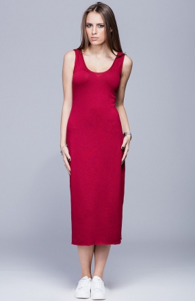 Harmony H026 sukienka bordowa