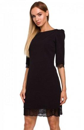 Sukienka z odkrytymi plecami czarna Moe M489
