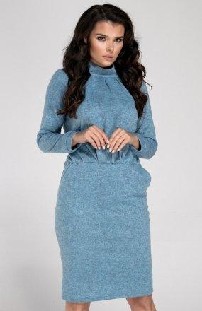 Nommo NA249 sukienka niebieska