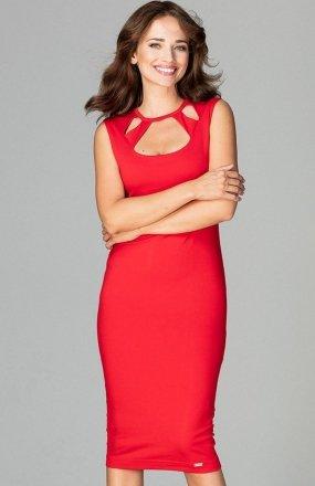 Lenitif K475 sukienka czerwona