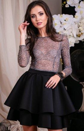 Mini sukienka z podwójną falbaną 260/T01