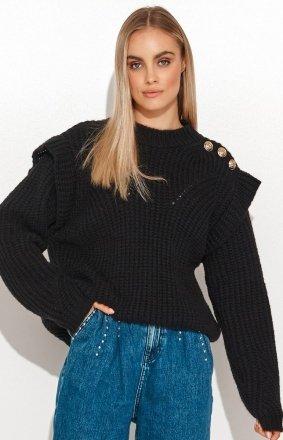 Damski sweter z falbankami S117