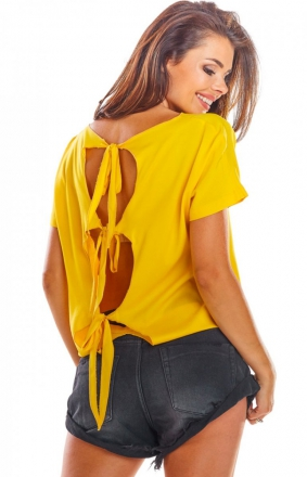 Bluzka z wiązaniami na plecach A292