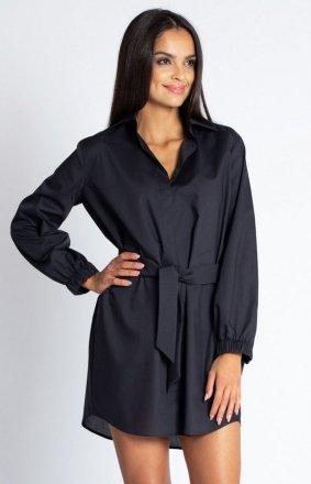 Koszulowa sukienka Celin czarna