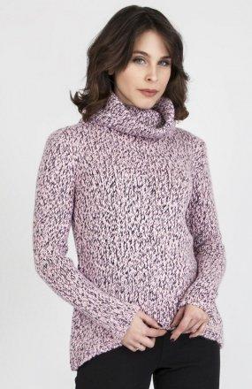 MKMSwetry Sweter Nicola SWE 103 Różowy