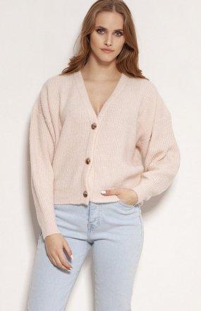 MKM SWE236 rozpinany sweter różowy