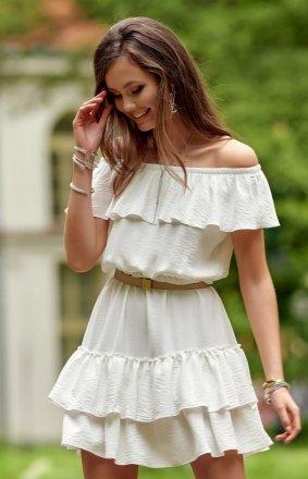 Letnia sukienka hiszpanka ecru 0291