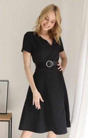 Czarna rozkloszowana sukienka damska Z375