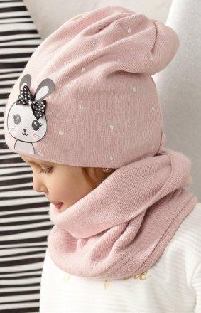 AJS 42-457 czapka i komin dla dziewczynki