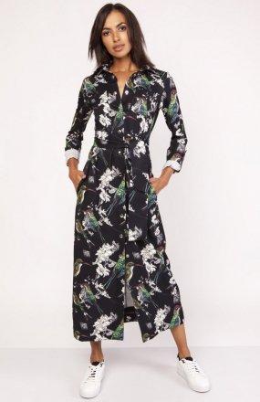 Sukienka maxi w ptaki SUK159